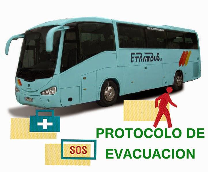 Protocolo evacuación autocares