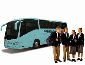 Autocares y microbuses para transporte escolar