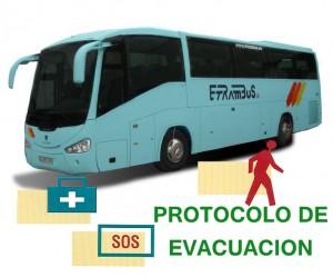 Alquiler de autocares protocolo evacuación