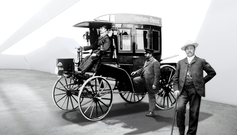 primer autobus con motor