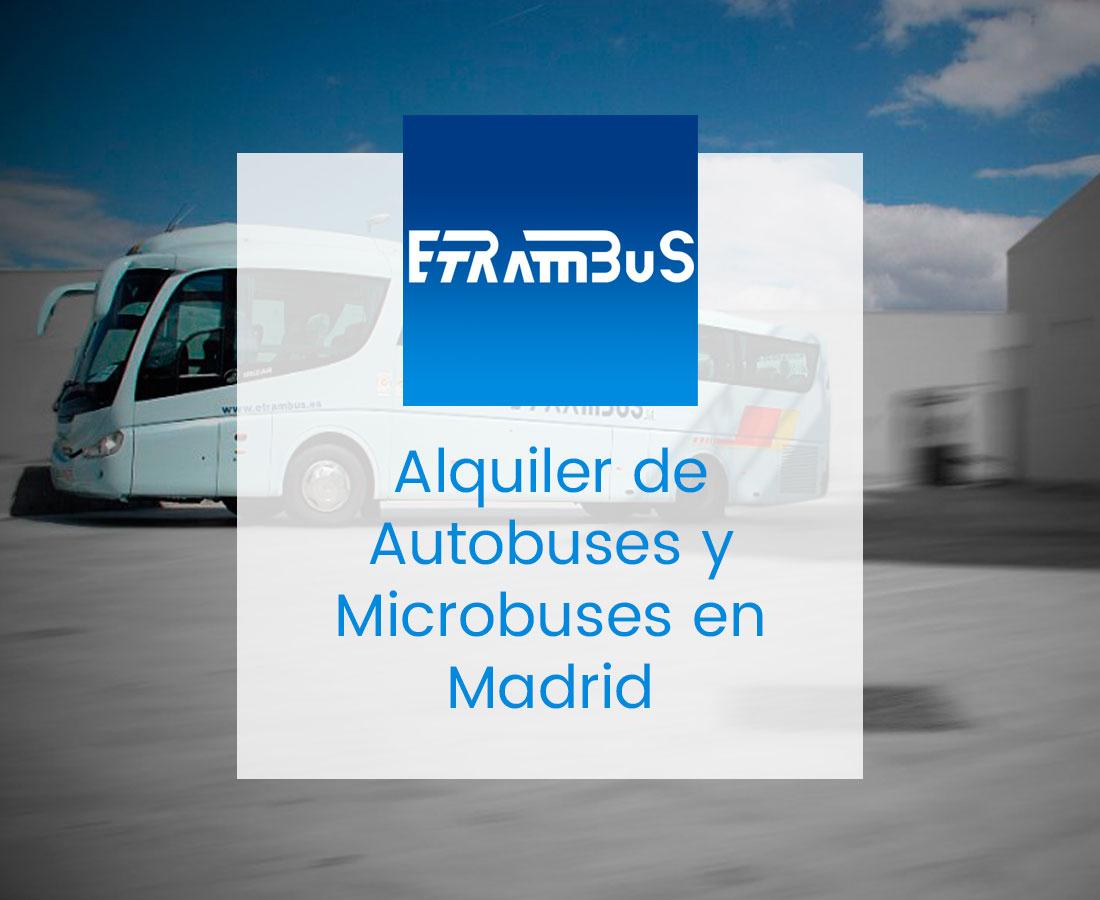 Alquiler de autobuses en madrid etrambus for Alquiler de andamios madrid