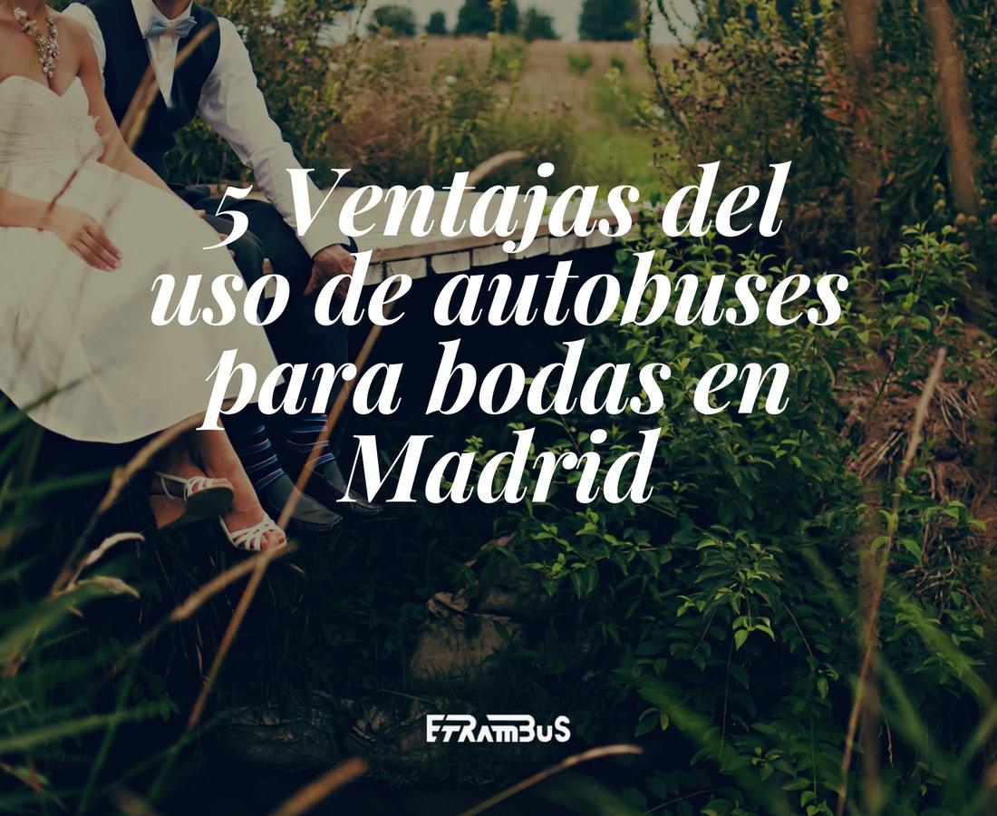 5 ventajas del uso de autobuses para bodas en madrid