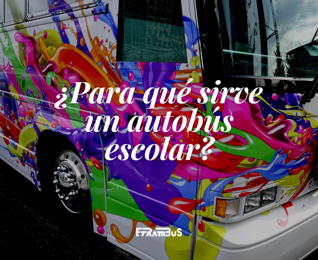 imagen destacada del post sobre para qué sirve un autobús escolar