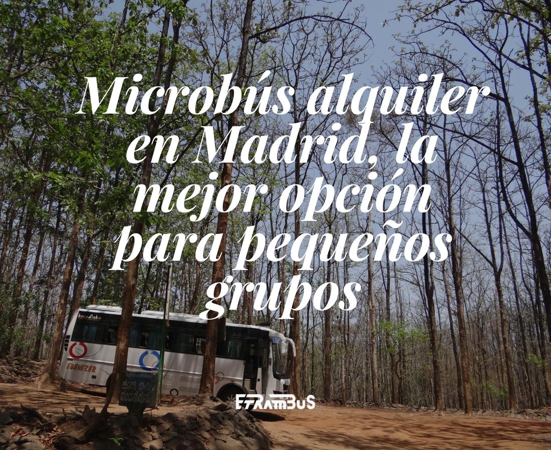 imagen destacada del post sobre microbús alquiler en Madrid