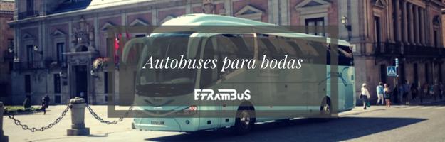 Alquiler de autobús para bodas en Madrid