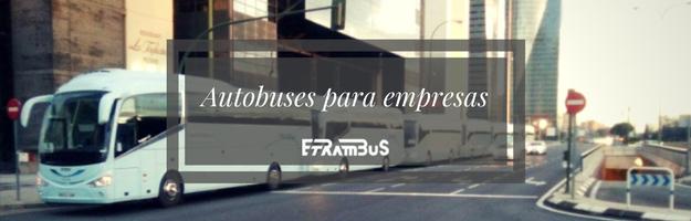 Flota para el alquiler de autobús para empresa en Madrid