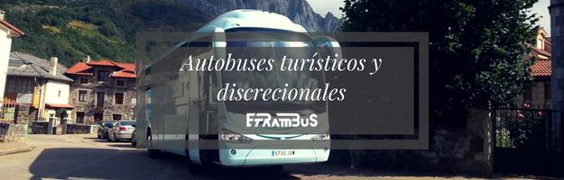 Alquiler de autobús para rutas turísticas